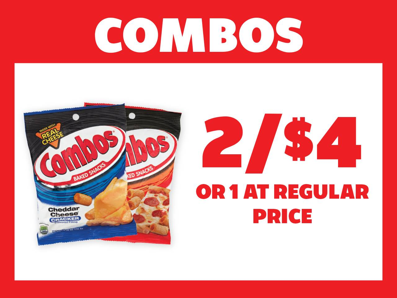 2 Combos for $4 or 1 at Reg Price