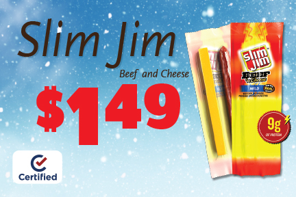 Slim Jim Beef and Cheese $1.49