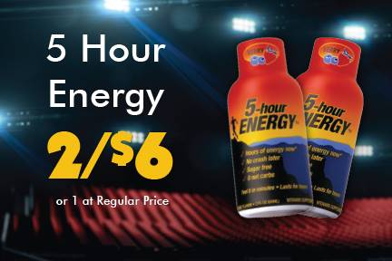 5 Hour Energy 2 for $6 or 1 at Reg Price