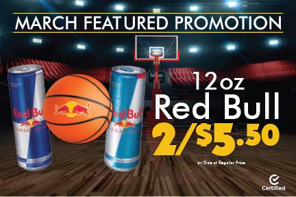 12oz Red Bull 2 for $5.50