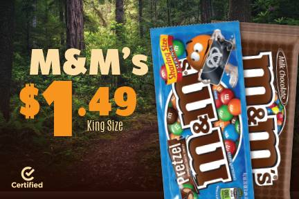 King Size M&M's $1.49