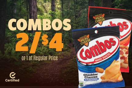 Combos 2 for $4 or 1 at Reg. Price