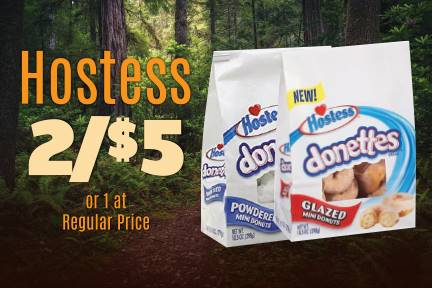 Hostess 2 for $5 or 1 at Reg Price