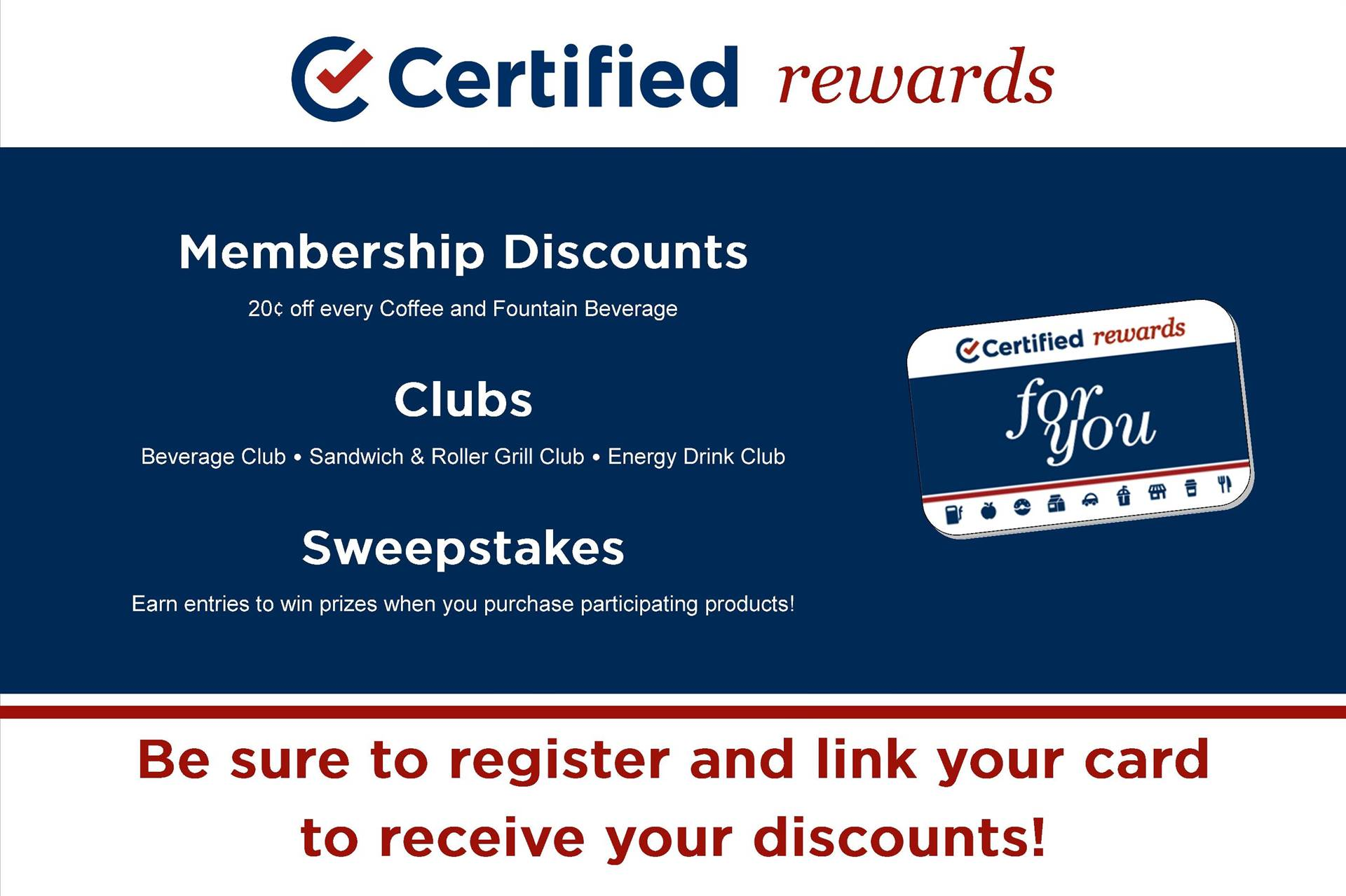 Certified Rewards - Member Discounts, Clubs, & Sweepstakes