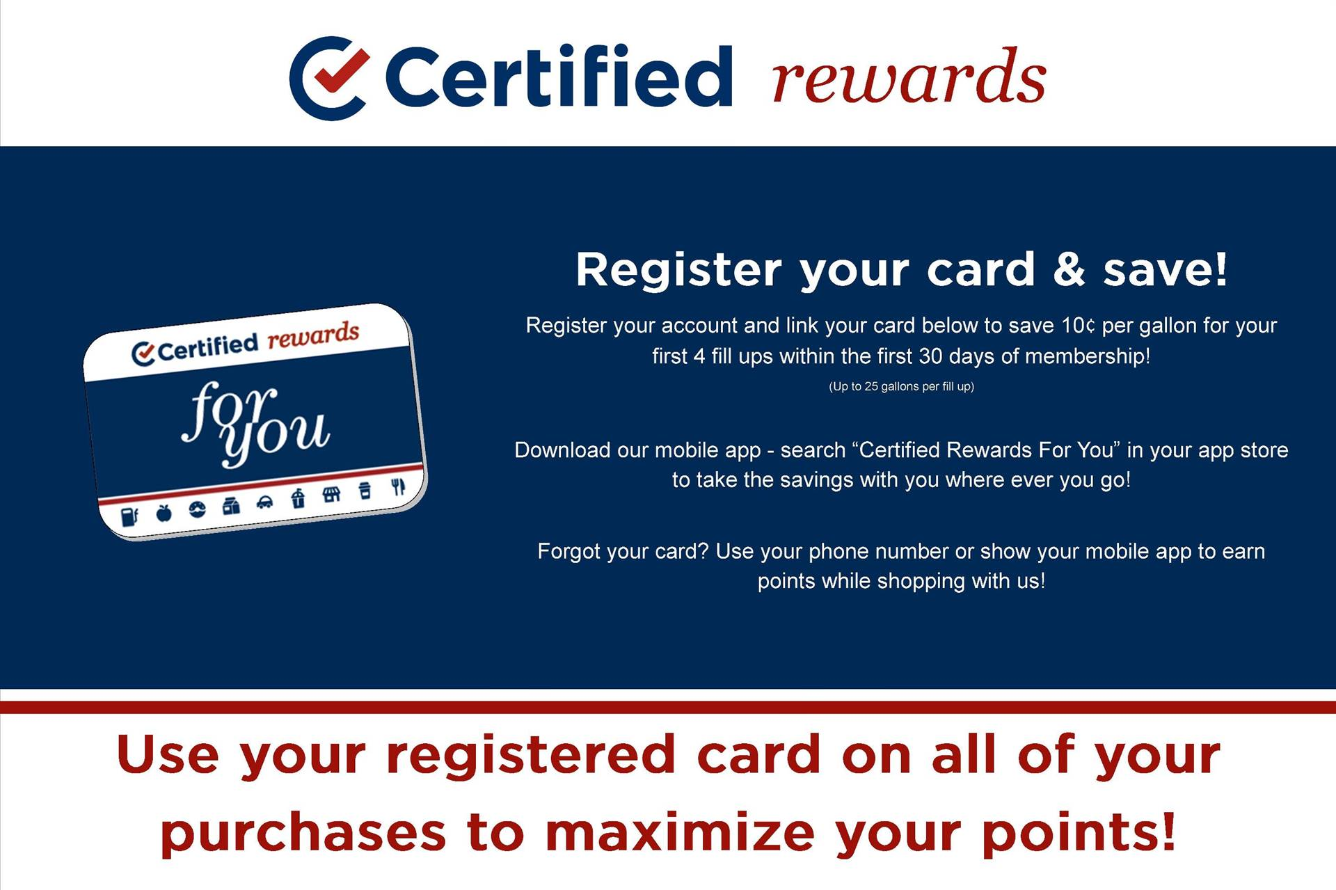 Certified Rewards - Register Your Card & Save