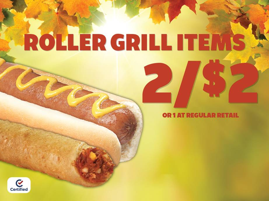 Roller Grill Items 2 for $2