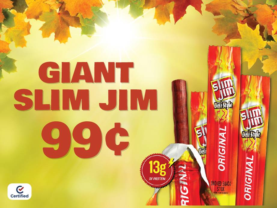 Giant Slim Jim - $.99