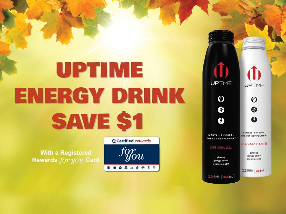 UpTime Energy Drink - Save $1