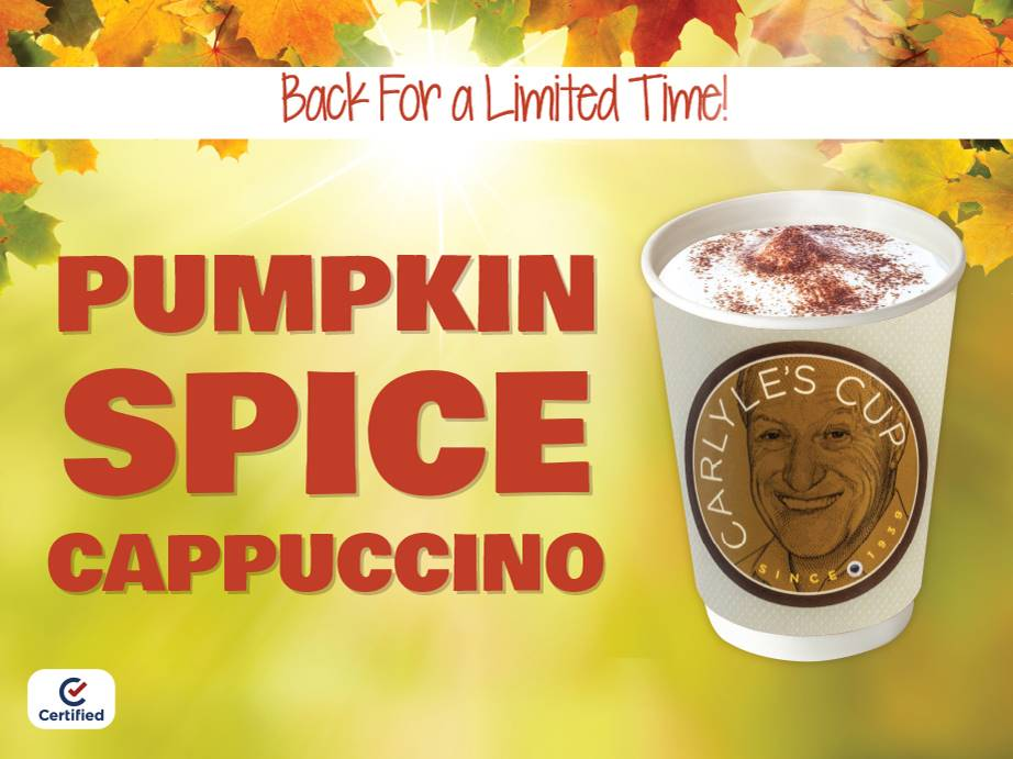 LIMITED TIME ONLY: Pumpkin Spice Cappuccino